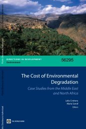 The Cost of Environmental Degradation - World Bank
