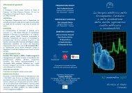 La terapia elettrica nello Scompenso Cardiaco e nella prevenzione ...