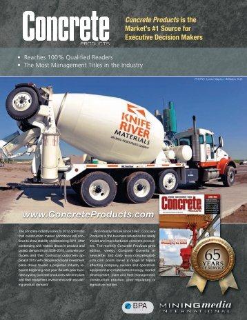 Concrete Products 2012 Editorial Calendar - Mining Media ...