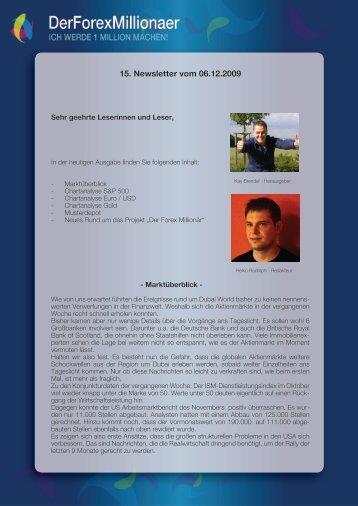 15. Newsletter vom 06.12.2009 - Der Forex Millionaer