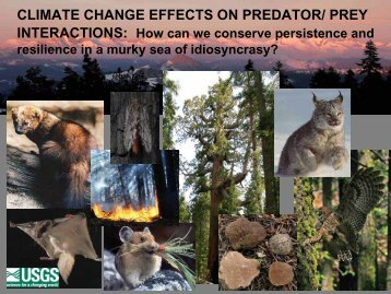 climate change effects on predator/prey interactions: how can we ...