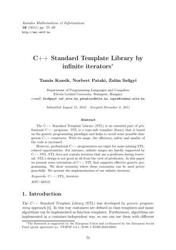 the c++ standard library pdf