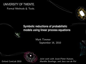 Symbolic reductions of probabilistic models using linear process ...