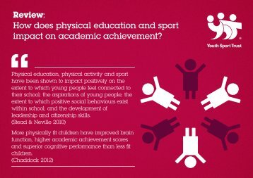 Review: How does physical education and sport impact on academic achievement?