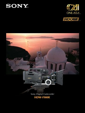 HDW-F900R - Sony Professional Solutions Asia Pacific