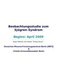 Beobachtungsstudie zum Sjögren-Syndrom Beginn: April 2009