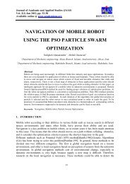 navigation of mobile robot using the pso particle swarm optimization