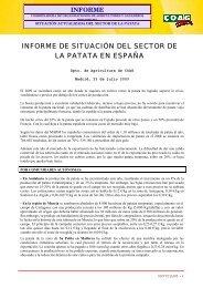 """[1] El """"Informe de situación del sector de la patata en España"""" - Coag"""
