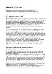 Wer die Wahl hat …… - rotstift - SPÖ