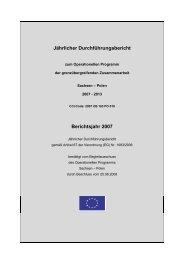 Jahresbericht 2007 des Operationellen ... - Polen 2007-2013