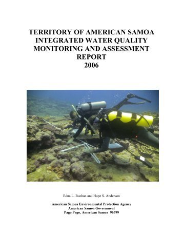 territory of american samoa integrated water quality monitoring and ...