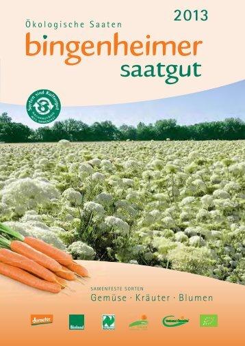 Deutschsprachiger Katalog 2013 - Bingenheimer Saatgut AG