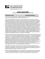 Michael Tilson Thomas Biography - San Francisco Symphony