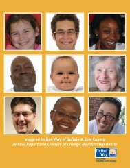 Annual Report & Roster - United Way of Buffalo and Erie County