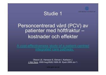 Personcentrerad vård E Hansson