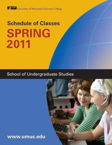 CoURSe deSCRiptionS - University of Maryland University College