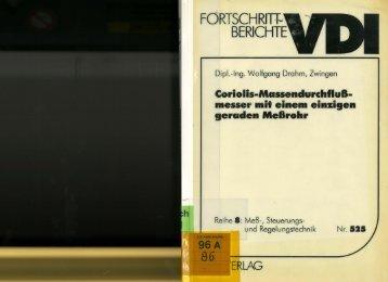 FORTSCHRITT-· BERICHTE