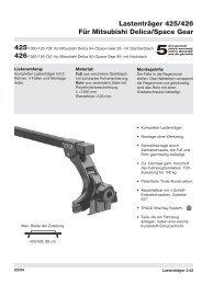 Lastenträger 425/426 Für Mitsubishi Delica/Space Gear