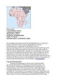 Sierra Leone Landeskundliche Fakten ... - Frank Heinrich