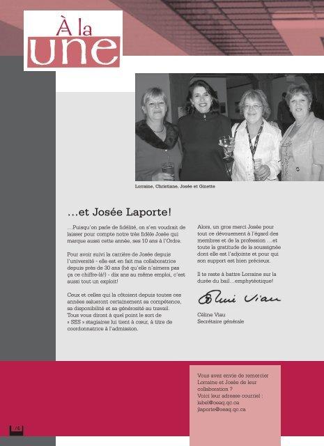 mars 2007 - Ordre des évaluateurs agréés du Québec