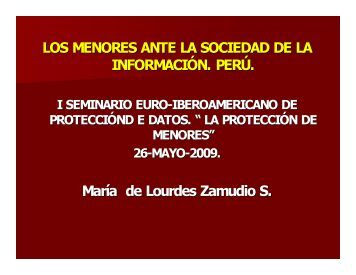 Dña Lourdes Zamudio - Docente asociada Univ. de Lima. - Red ...