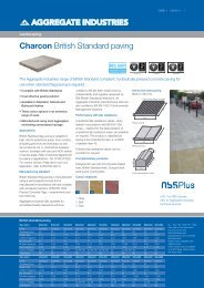 British standard paving - Aggregate Industries
