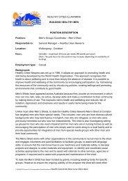 Men's Groups Coordinator - Healthy Cities Illawarra
