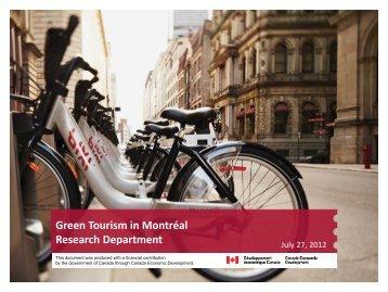 Tourisme vert à Montréal