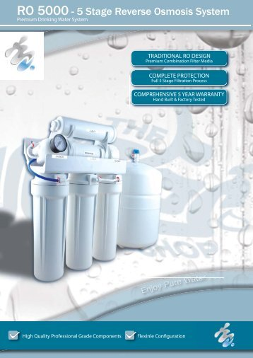 RO 5000 - 5 Stage Reverse Osmosis System - Water Filters ...
