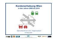 Ergebnisse der Kordon-Erhebung 2010/2011 im Überblick - Stadt ...
