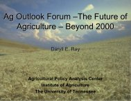 Ag Outlook Forum - Agricultural Policy Analysis Center