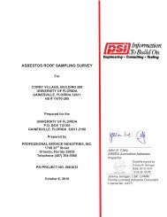 asbestos roof sampling survey - UF Purchasing - University of Florida
