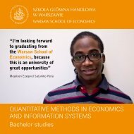 Quantitative Methods in Economics and Information Systems