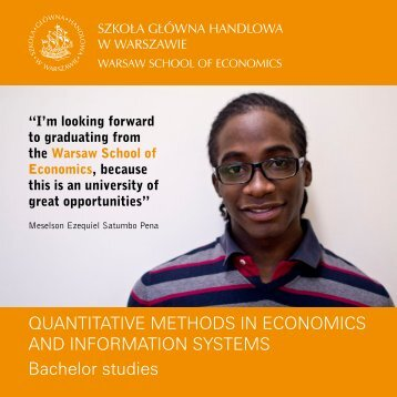 Quantitative Methods in Economics and Information Systems