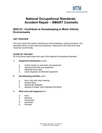 National for Institute of the motor industry