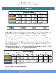 August 2014 Service Performance Report