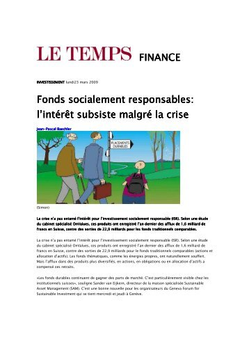 Le Temps, March 23th 2009