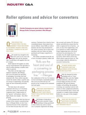 Roller Options and Advice for Converters - Flexible Packaging