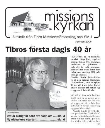 Tibros första dagis 40 år - Missionskyrkan Tibro