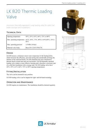 LK 820 Thermic Loading Valve
