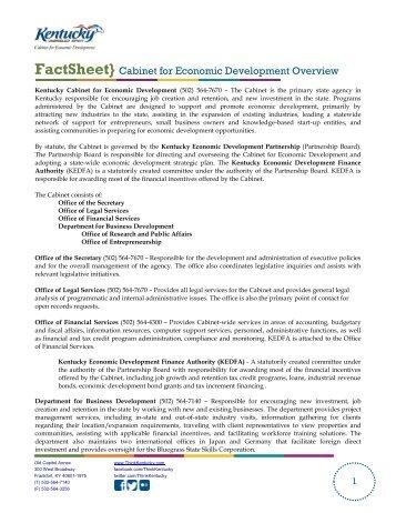 kentucky cabinet for economic development | Nrtradiant.com