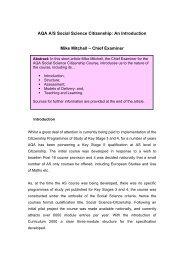 AQA A/S Social Science Citizenship - Citized