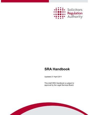Draft SRA Handbook - Levi Solicitors