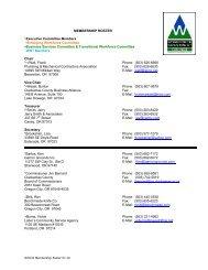 MEMBERSHIP ROSTER *Executive Committee Members + ...
