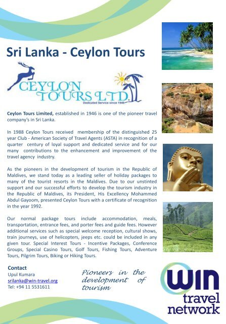 development of special interest tourism