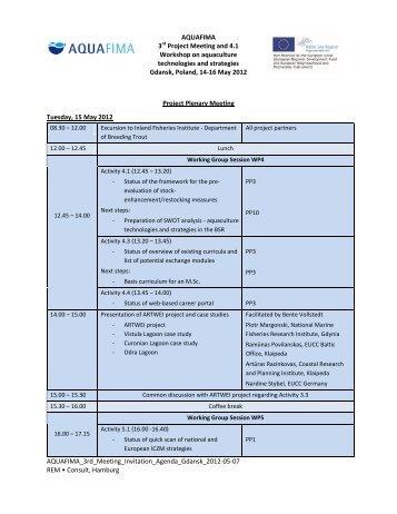 Agenda - Baltic Lagoon Network