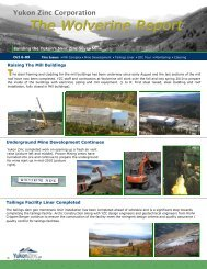 Draft Sept 11-09 YZC Newsletter.pub - Yukon Zinc Corporation