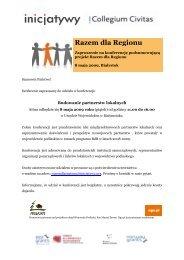 Razem dla Regionu - Collegium Civitas