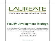 Faculty Development Strategy - My Laureate