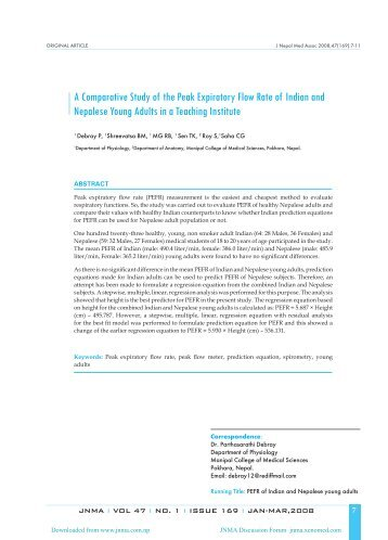 A Comparative Study of the Peak Expiratory Flow Rate of Indian and ...